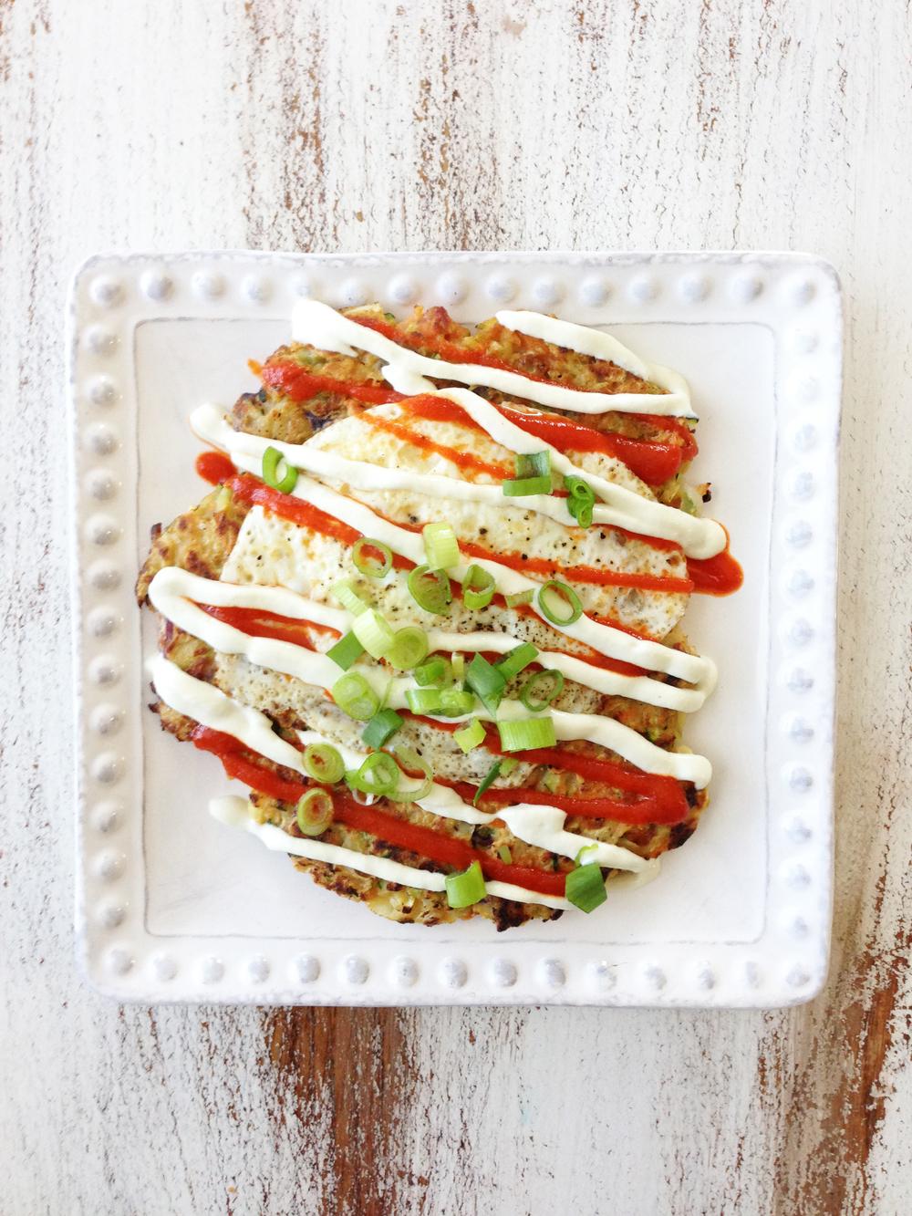 Healthified Okonomiyaki (Japanese Pancakes) — The Skinny Fork