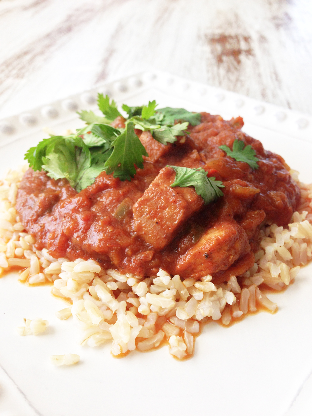 Skinny Crock Pot Chicken Tikka Masala — The Skinny Fork