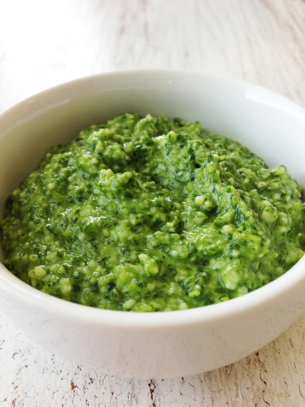 Skinny Basil Pesto Recipe — Dishmaps