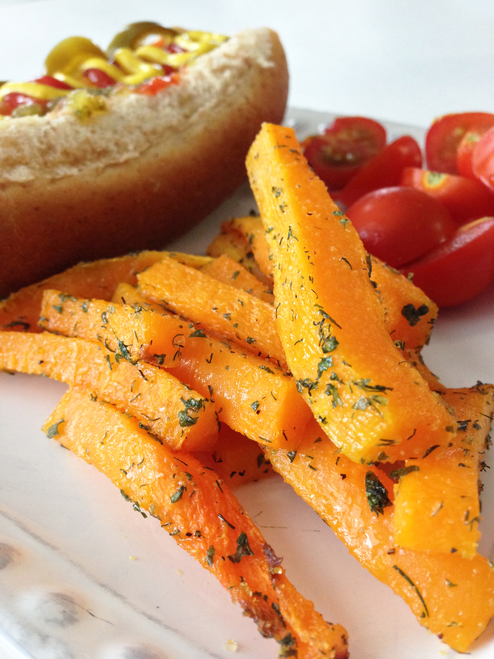 These baked Butternut Squash Faux Fries are an amazing alternative to ...