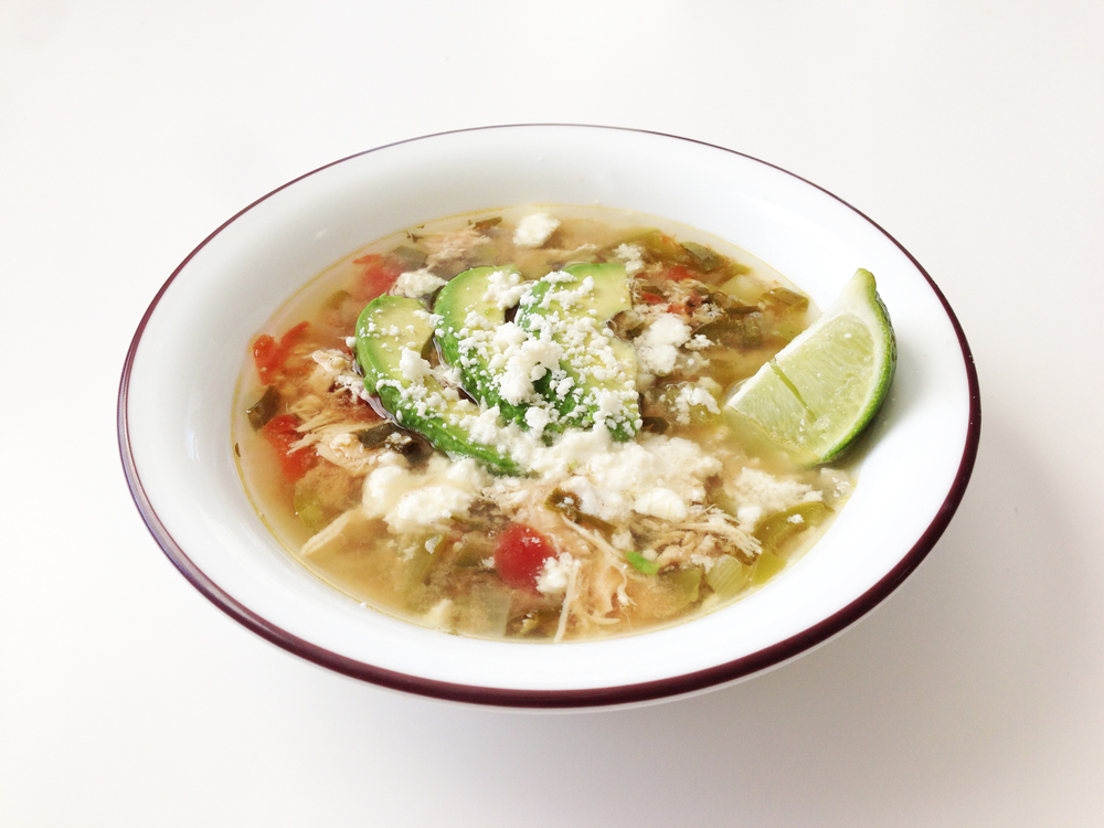 Crock Pot Green Chile Chicken & Avocado Soup — The Skinny Fork