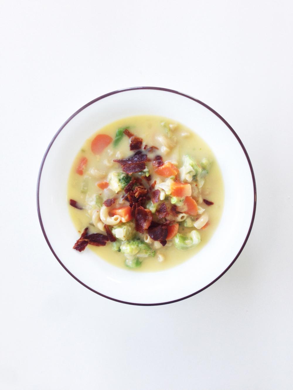 Skinny Beer, Bacon & Jalapeño Mac-N-Cheese Soup — The ...