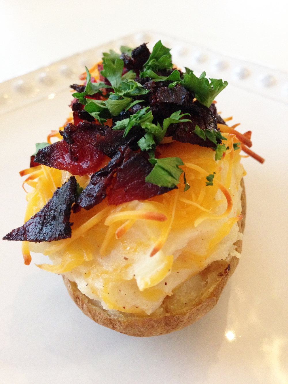 Skinny Loaded Twice Baked Potatoes — The Skinny Fork