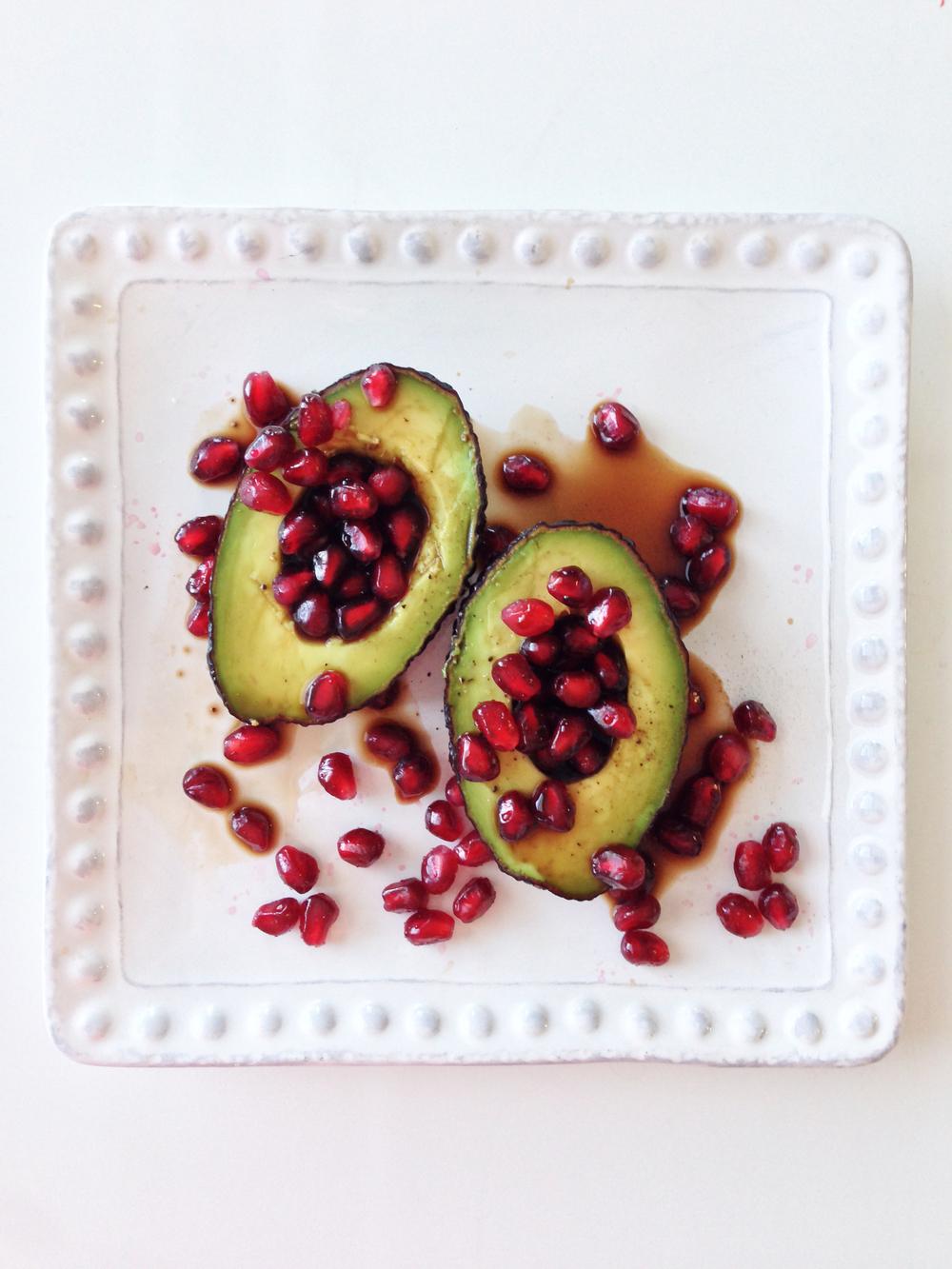 pomegranate avocado