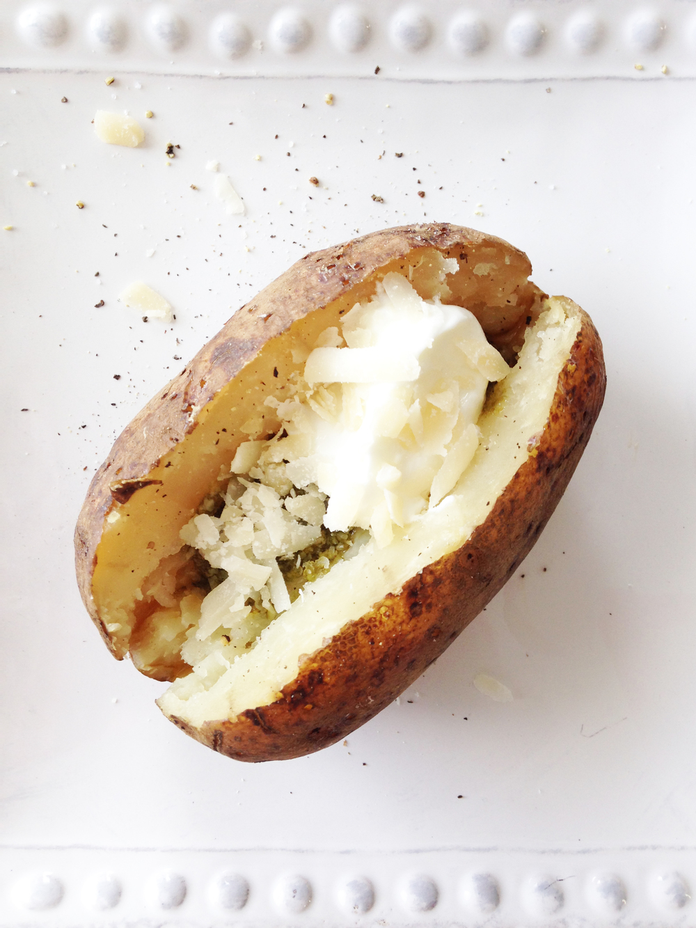 Crock Pot 'Baked' Potatoes (With Skinny Pesto & Parmesan) — The ...