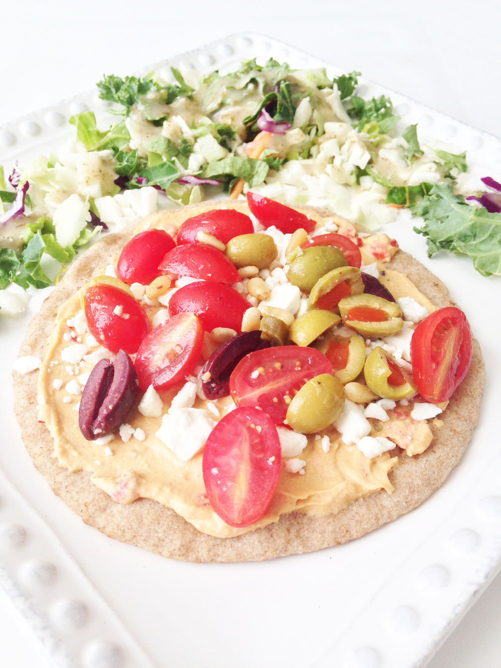 Greek Pita 'Pizza' — The Skinny Fork