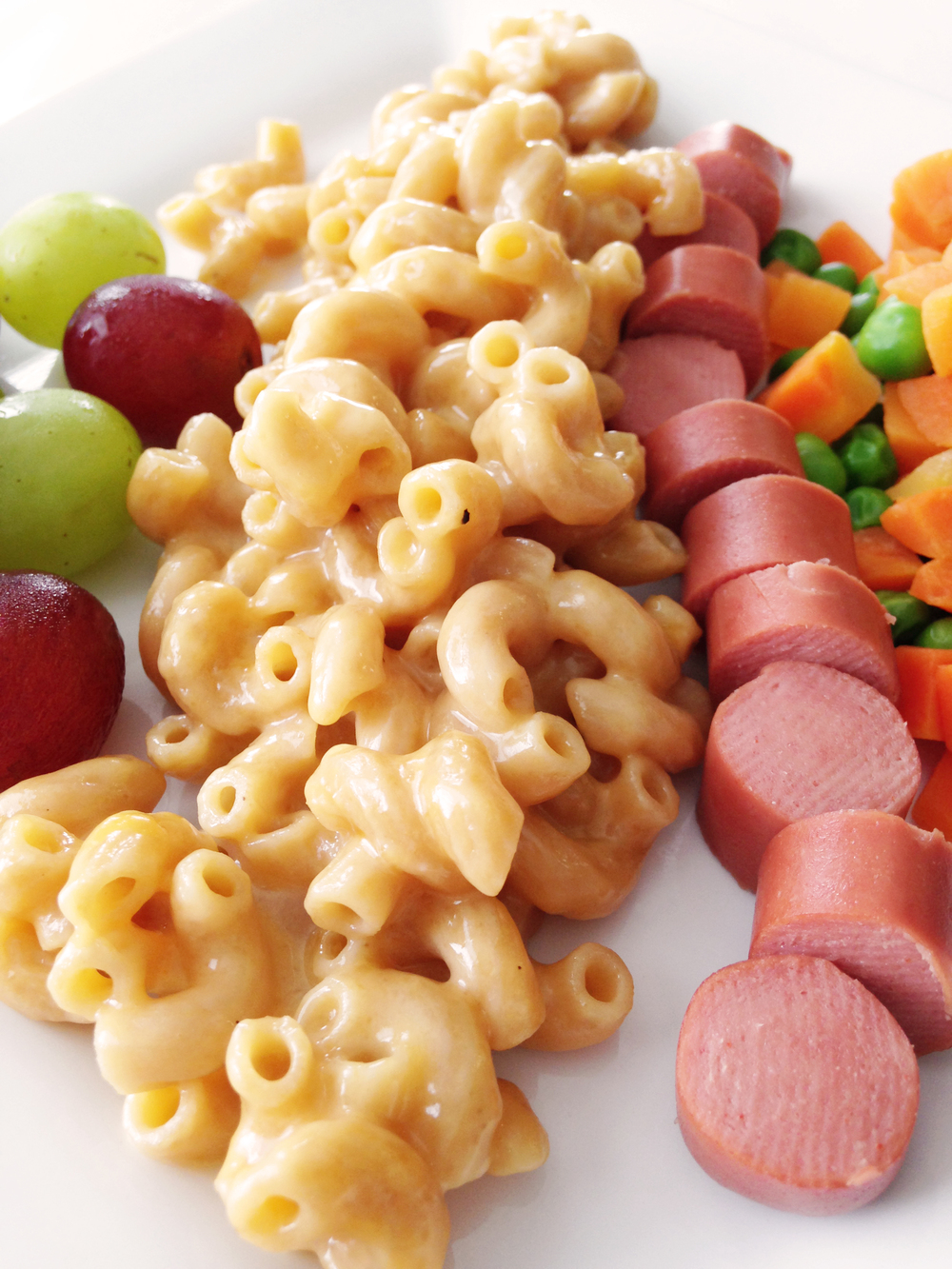 used a 2% sharp cheddar for this bowl of macaroni, but you should ...
