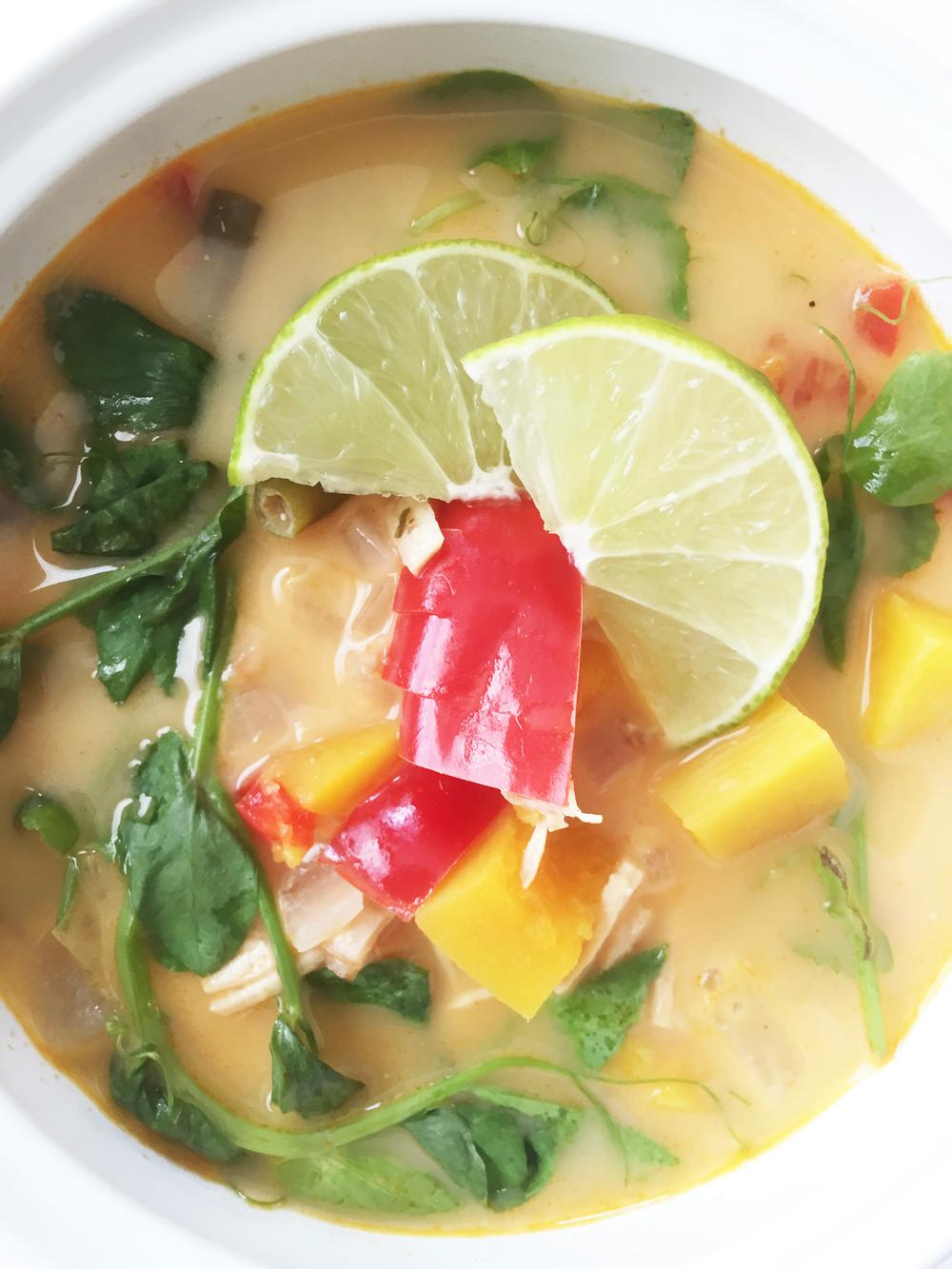 Fall Harvest Turkey Thai Soup (Crock Pot) The Skinny Fork