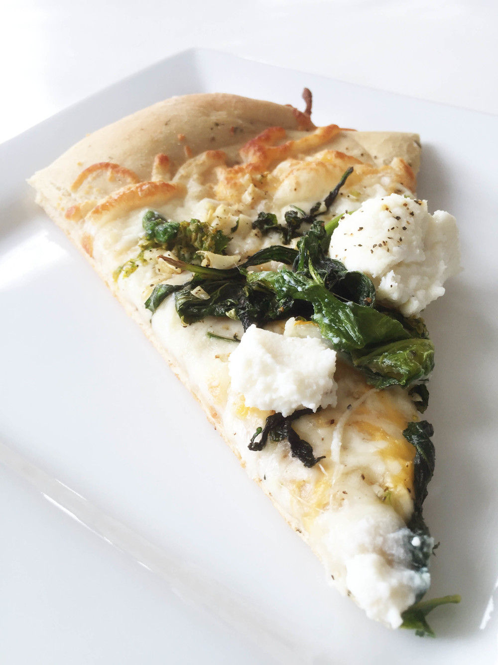 Whole Wheat Broccoli Rabe & Ricotta White Pizza — The Skinny Fork