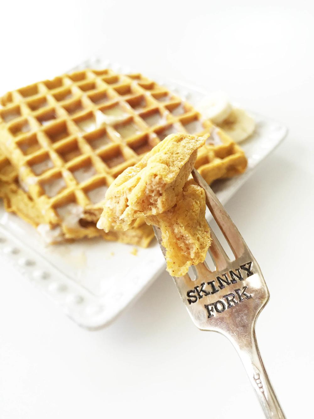 Whole Wheat Pumpkin Pie Spice Waffles (Sponsored) — The Skinny Fork
