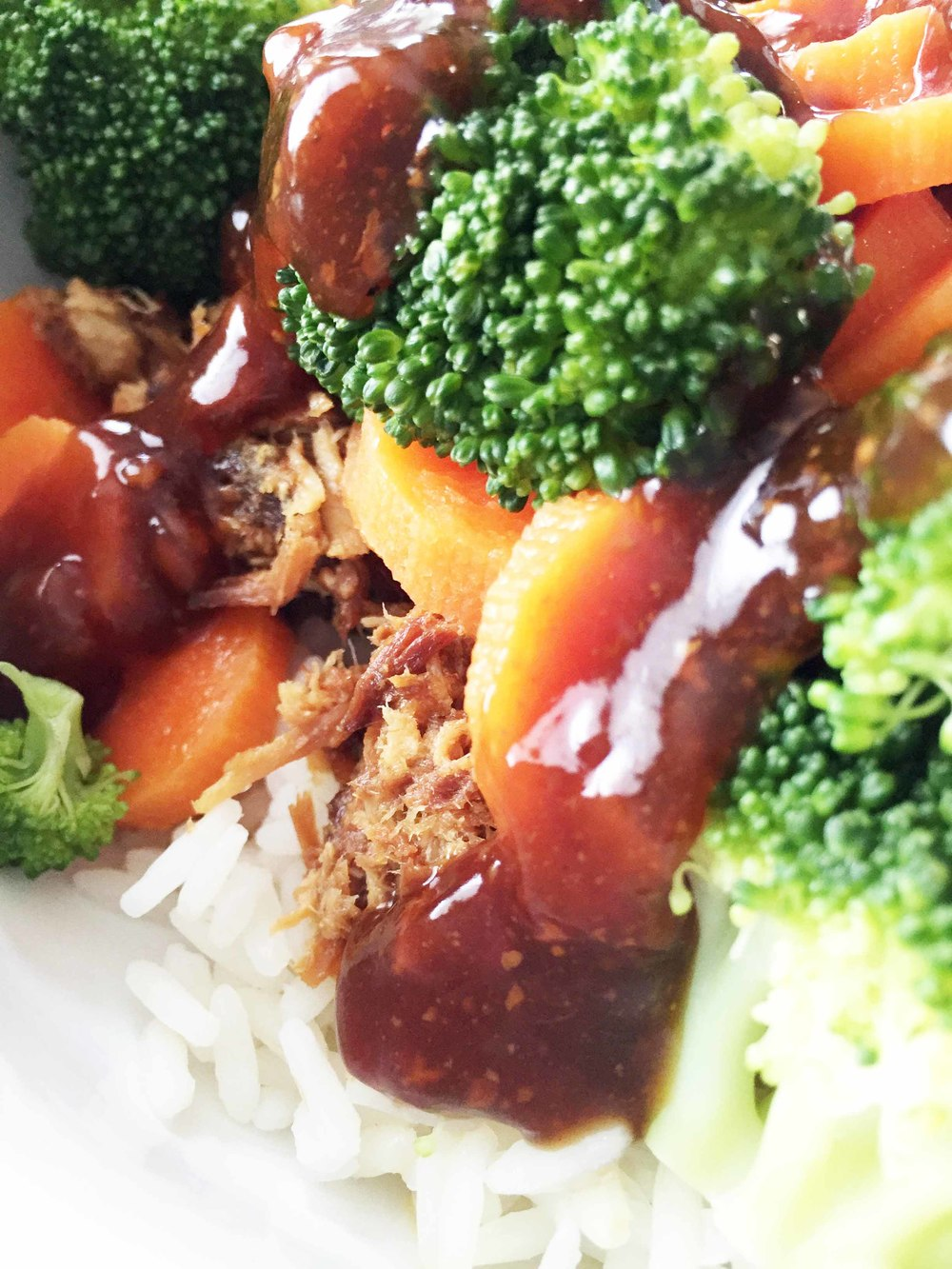 Healthified Crock Pot Teriyaki Chicken Bowls The Skinny Fork
