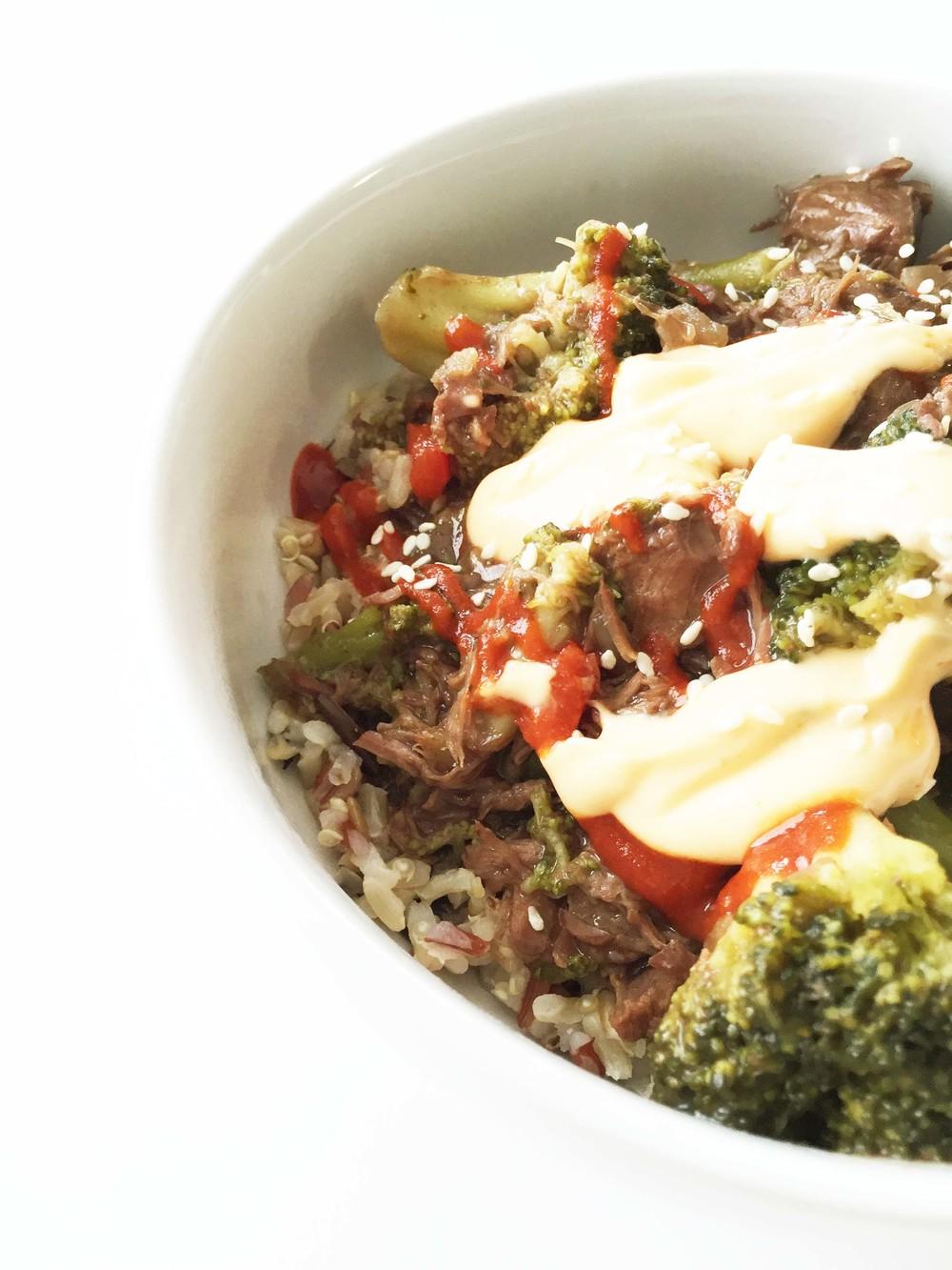 Healthified Crock Pot Beef & Broccoli