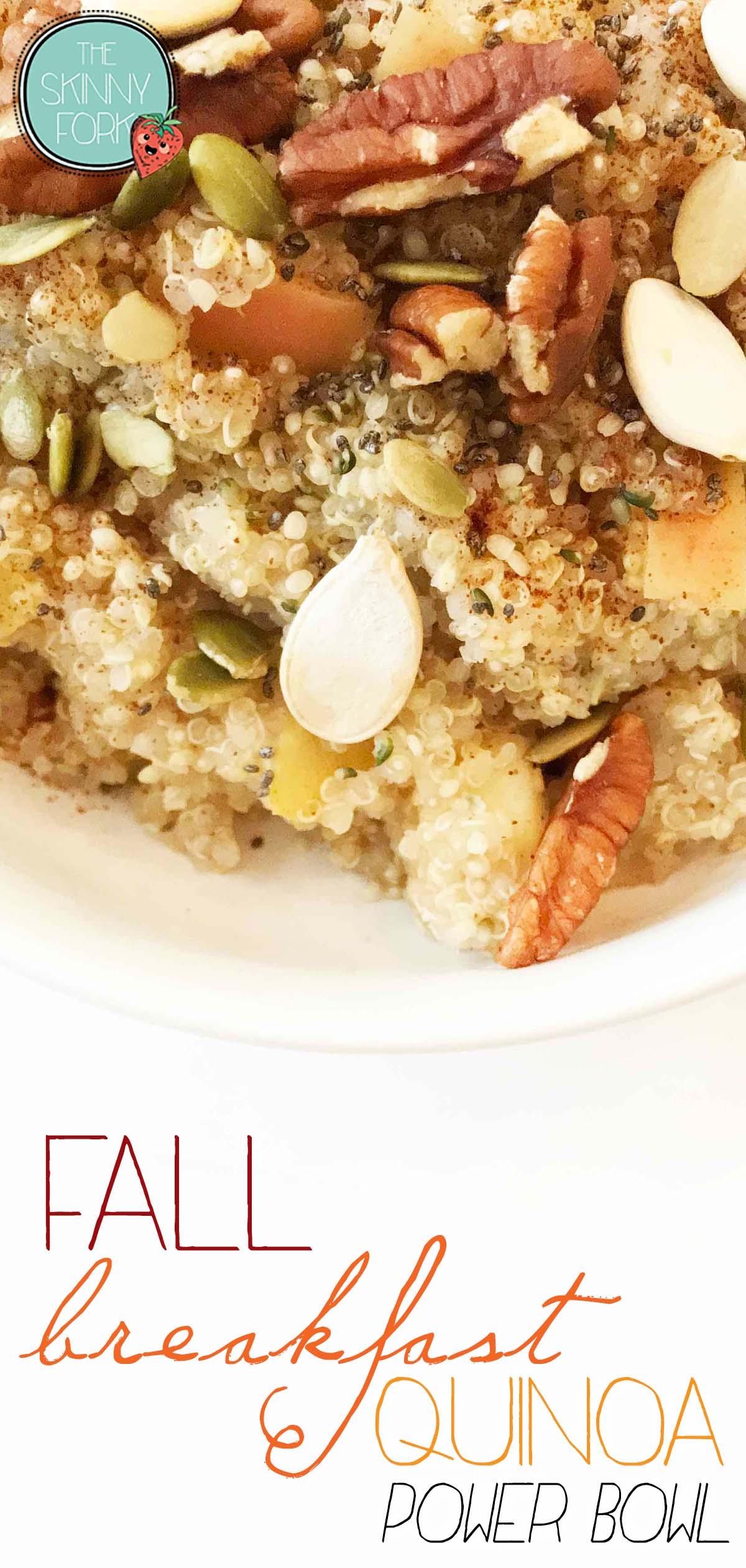 Fall Breakfast Quinoa Bowl