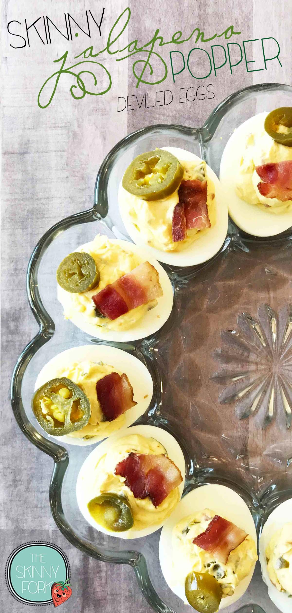 Skinny Jalapeño Popper Deviled Eggs