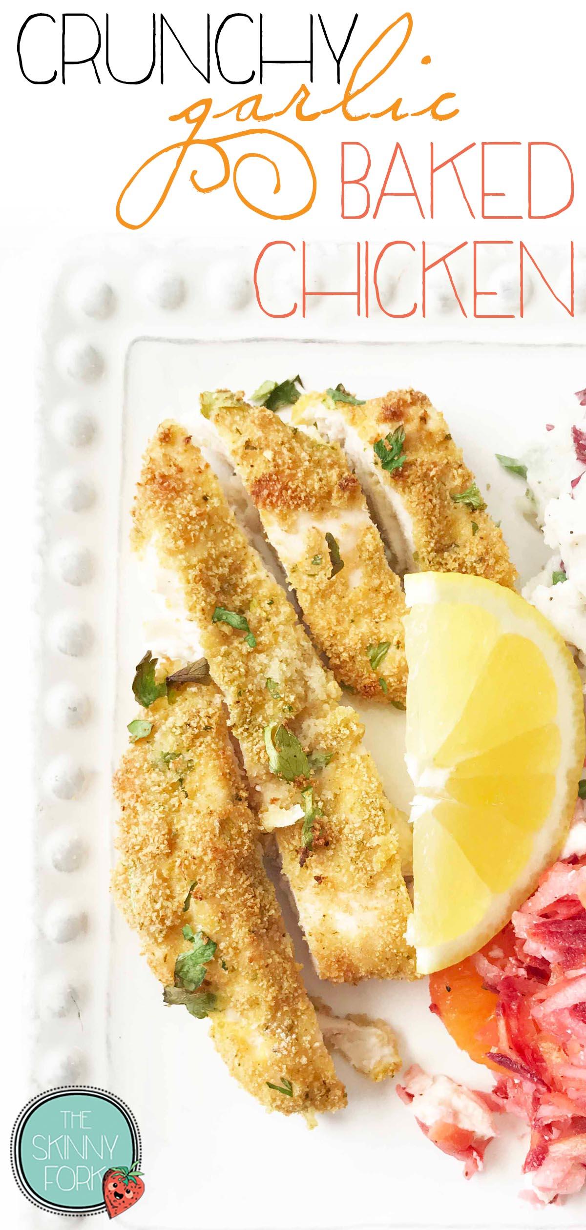 'Crunchy Garlic Baked Chicken