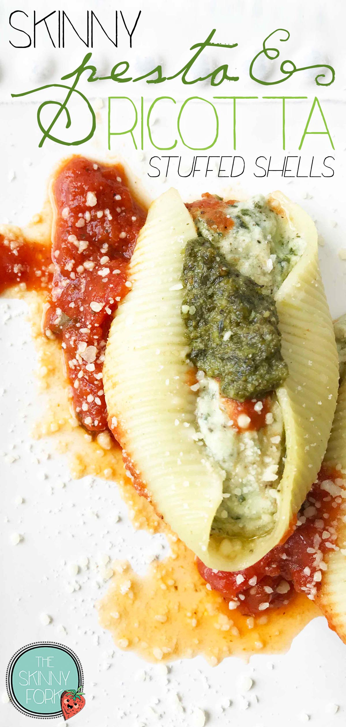 Skinny Pesto & Ricotta Stuffed Shells