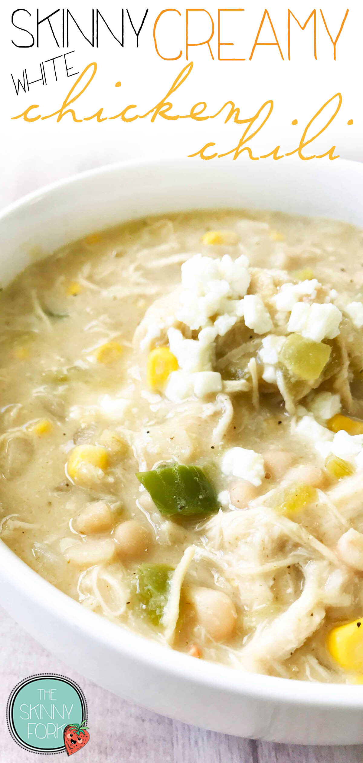 Skinny Creamy White Chicken Chili