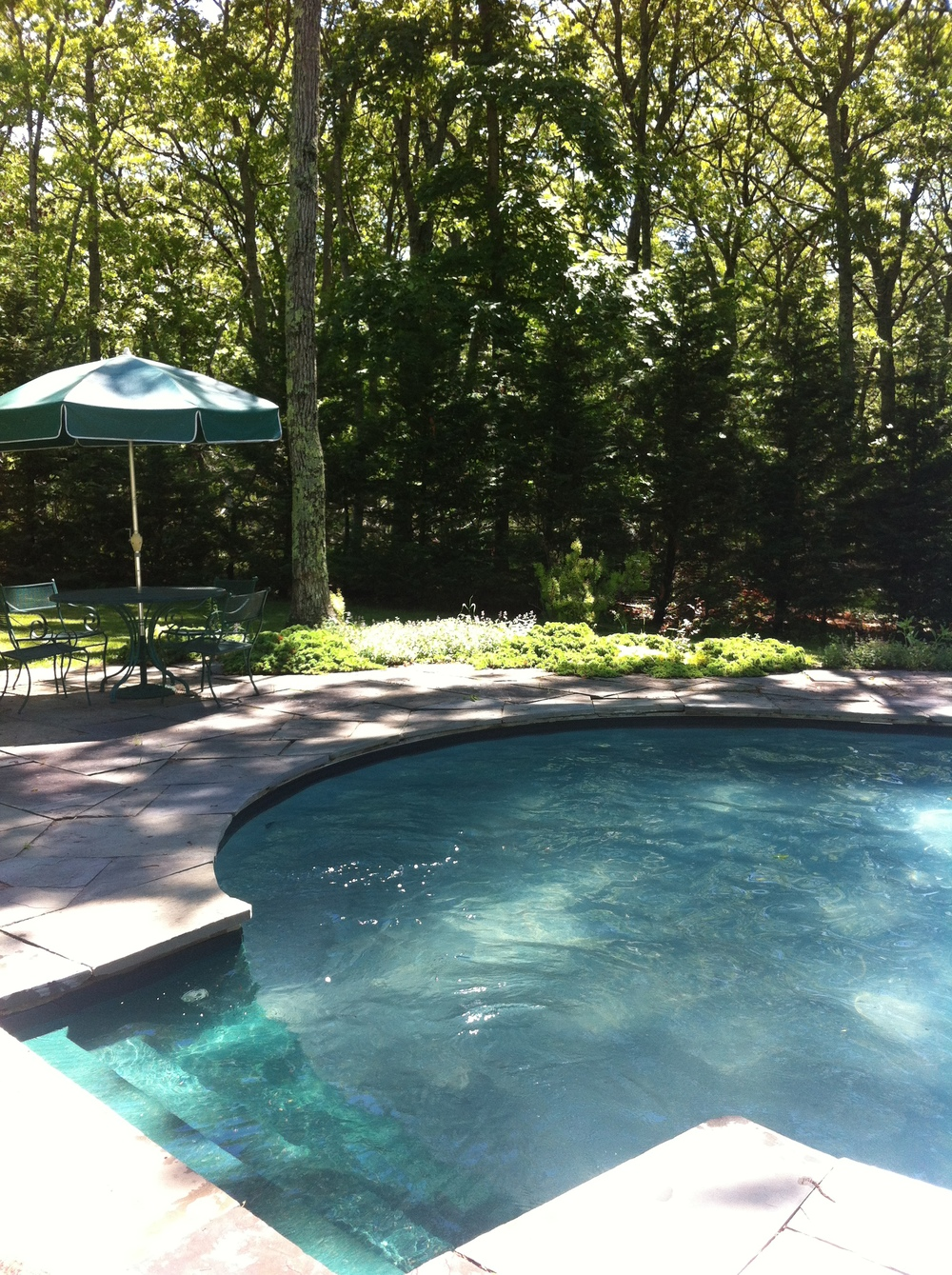 View of the pool from the deck