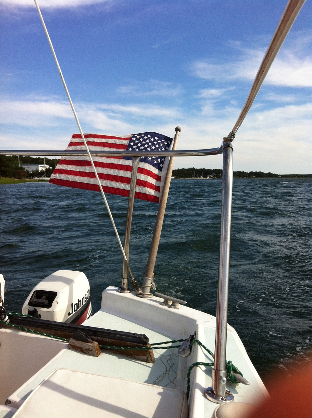 Sailing from East Hampton to Shelter Island