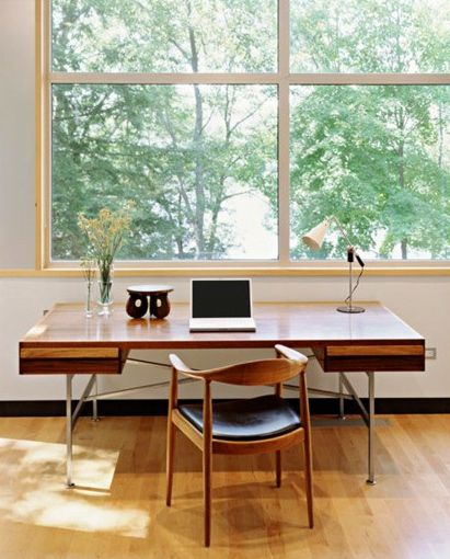 Try this 2 minute desk relaxation lucy 39 s kitchen Study table facing window