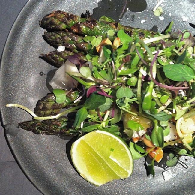 Grilled Skuna Bay salmon salad