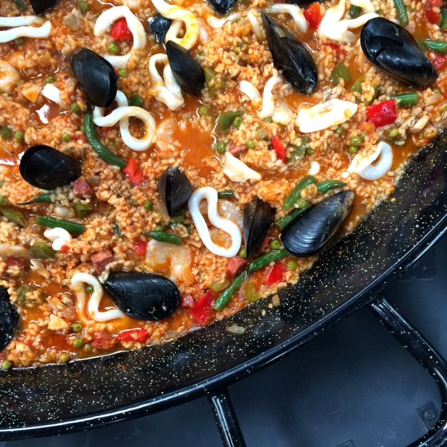 Fresh paella with local South Australian seafood