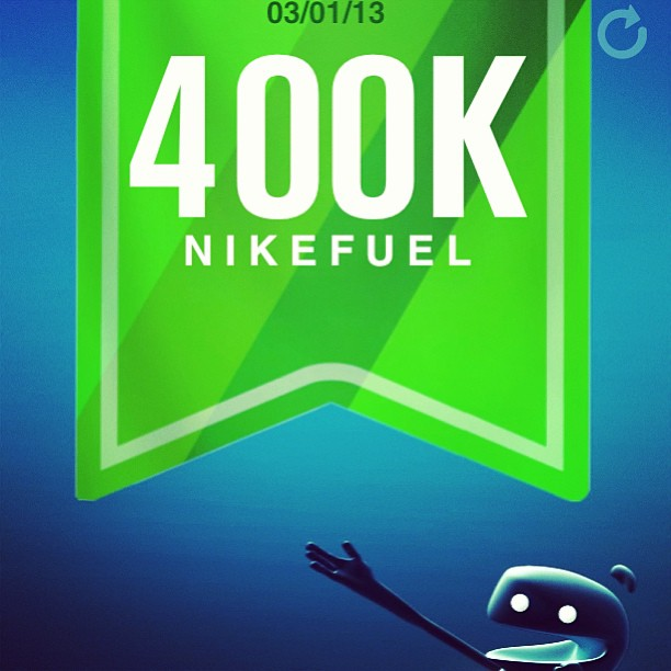 Still gettin' it. #nikefuel