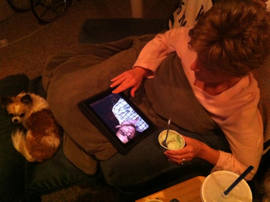 My mom is creeping.