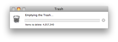 This is for real…I'm in the process of deleting 4,057,340 files right now…get on my level.