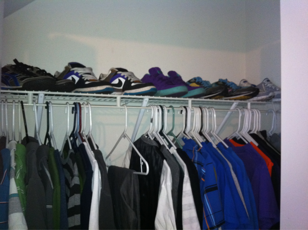 Just re-did my closet only to realize that I need to re-re-do it. Where will I put these shoes!?
