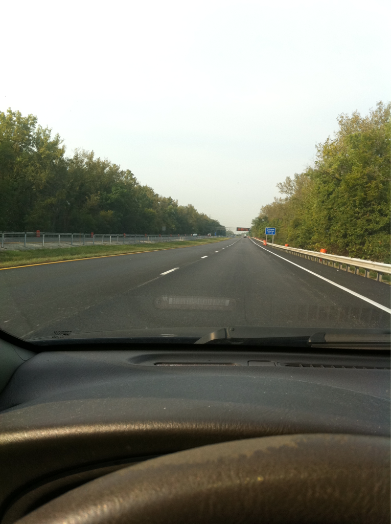 The speed limit on the interstate was reduced to 45mph for road work…where's the roadwork?