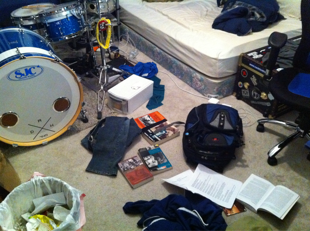 When school is in session, I don't clean.