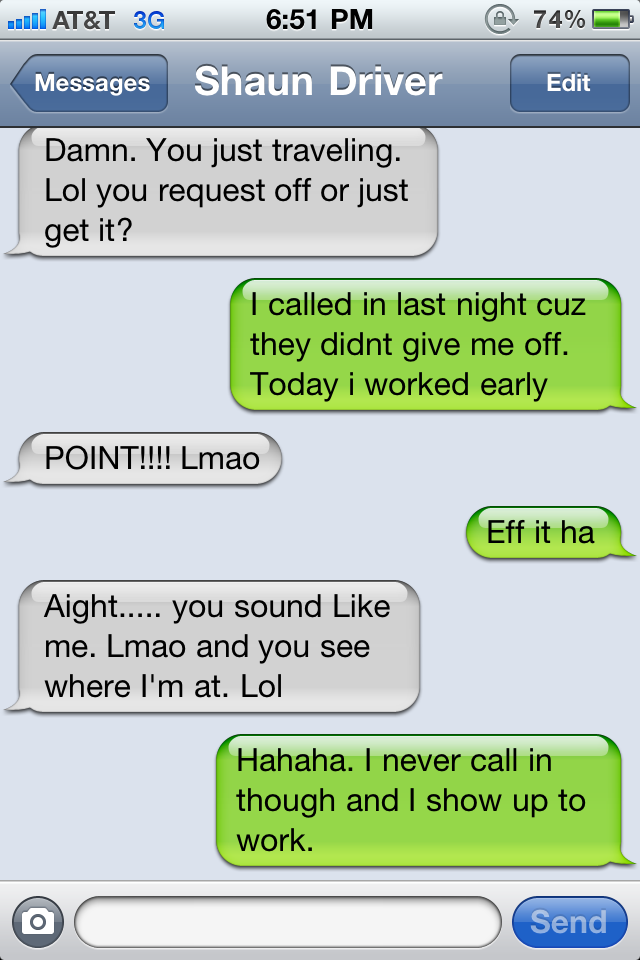 If you know this man, you're probably laughing out loud at the trueness of this conversation.