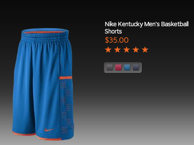 So Nike is doing this thing where they tell you they have you're favorite teams basketball shorts, then they just attach your teams name with a random color of short….cool