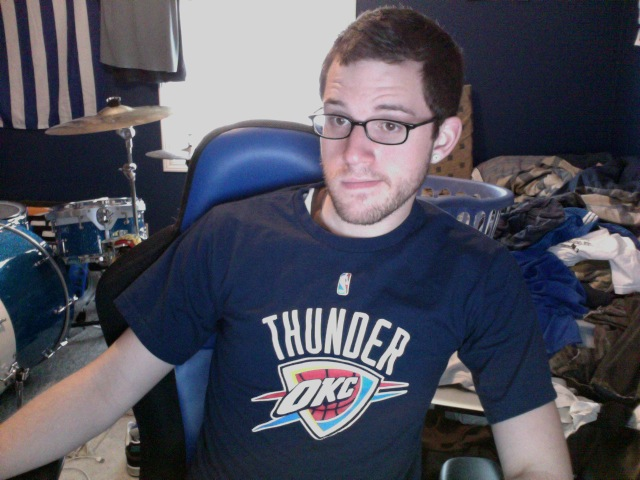 Still haven't cleaned my room but tonight is game 7. #ThunderUp!