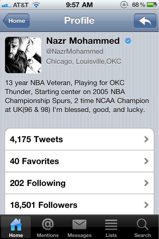 Nazr is proud of his achievements.