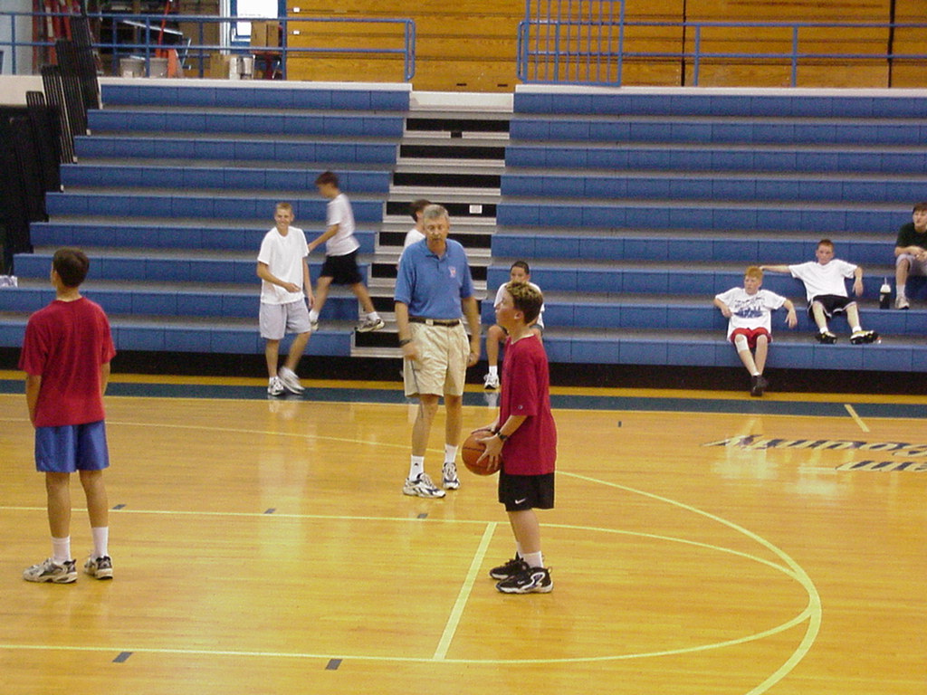 coryeaves :     I found this picture today of me wearing a pair of Nike Hawk Flights at a basketball camp when I was just a little dude.     I wish I still had those shoes.      Gary freakin' Forrest