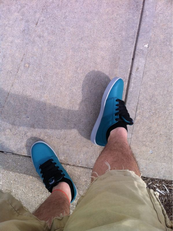Wearing shorts and my new kicks today…got break these things in. They're freaking narrow