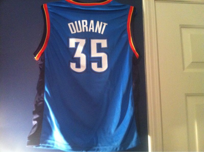 Welcome to my wall of jerseys Mr. Durant
