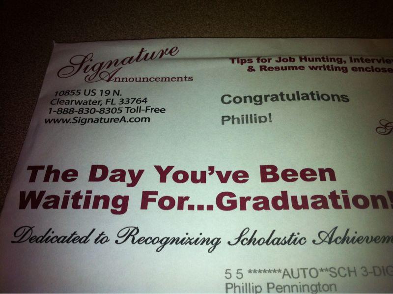 I thought I graduated 5 years ago.
