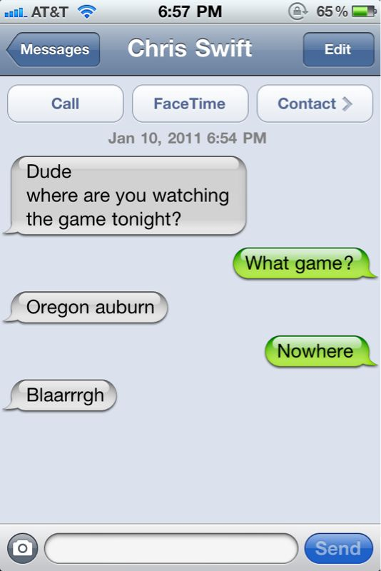 Football? Who cares.