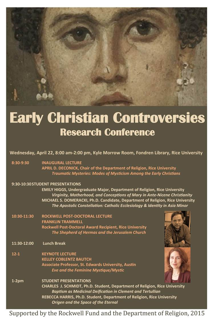Early Christian Controversies April D Deconick