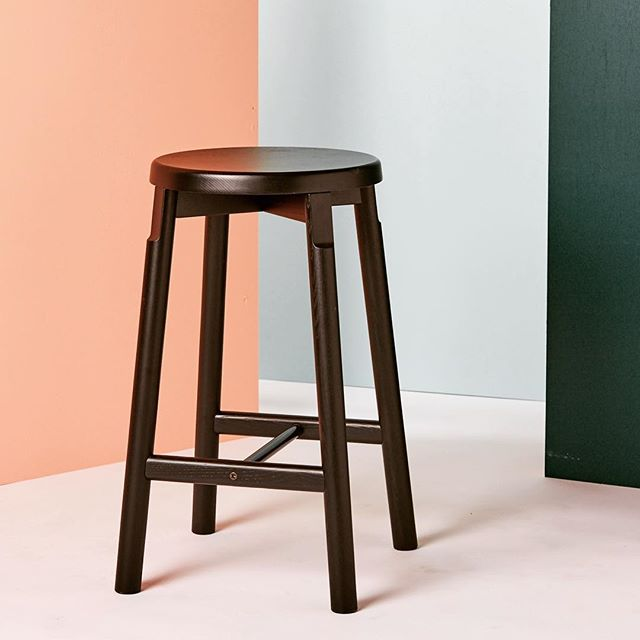 Blacked out Barn Stools in stock from @corral_usa  #newamericandesign #solidash #buildtolast #furniture #shakervibes