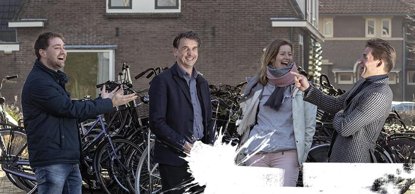De bouwkuip op het  Koningin Julianaplein  in Den Haag