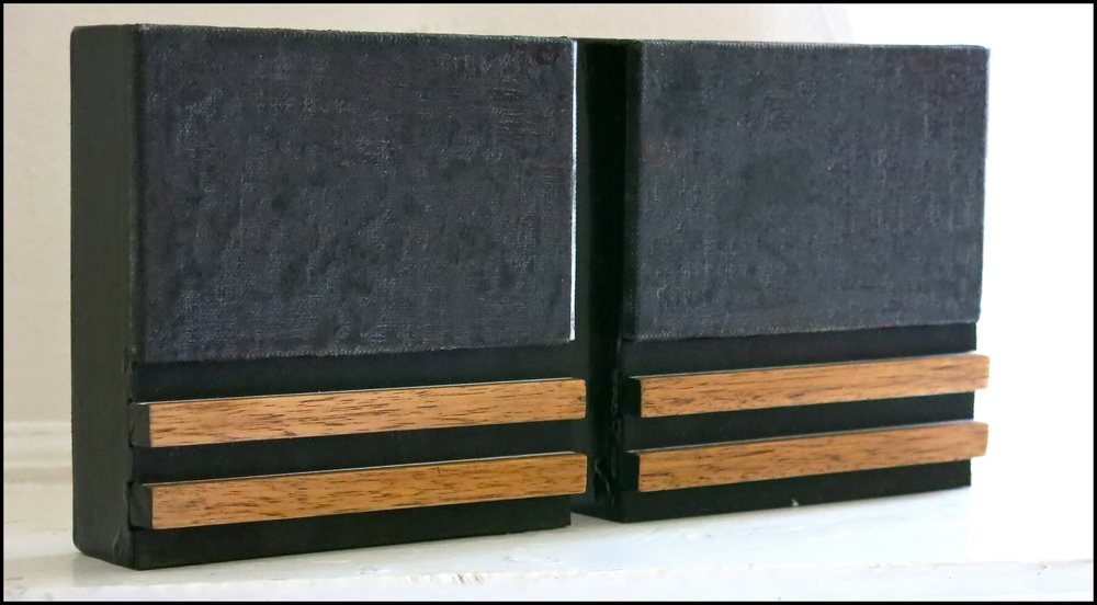 Untitled EP #12, 2013 15CM X 30CM (2 Panels) Acrylic, Oil stick, Graphite, Rubber, Oak and Varnish on Linen covered panel
