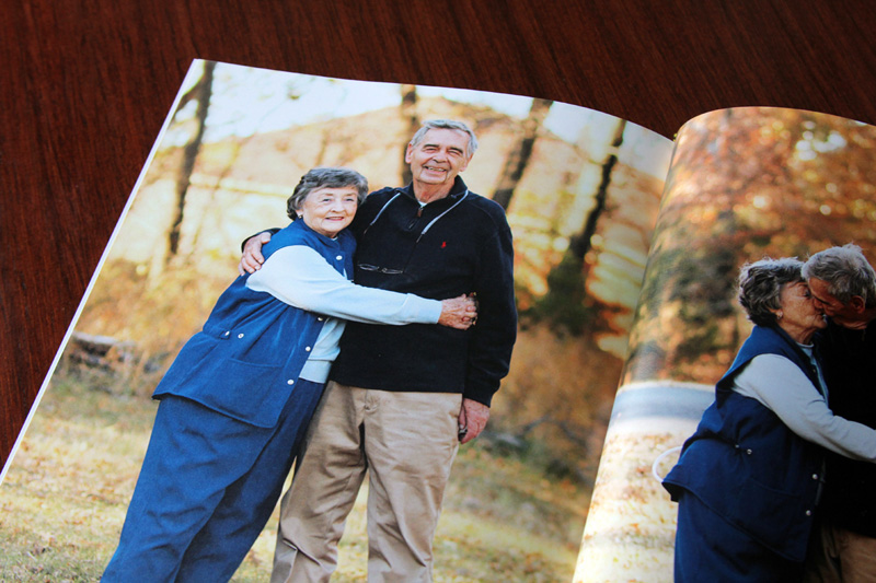If you have a great family photo, give it the full-page treatment. Photo by Mary Jane Egan Huddleston.