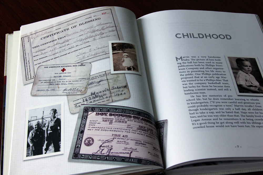 Documents, letters, and other ephemeral bits of history can add a visual flair as well as important information.