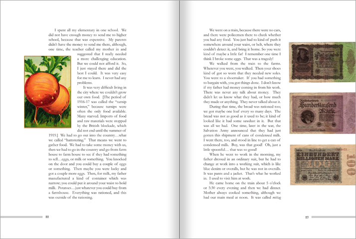 Using wider margins and more white space gives a restful, friendly feel to the page.