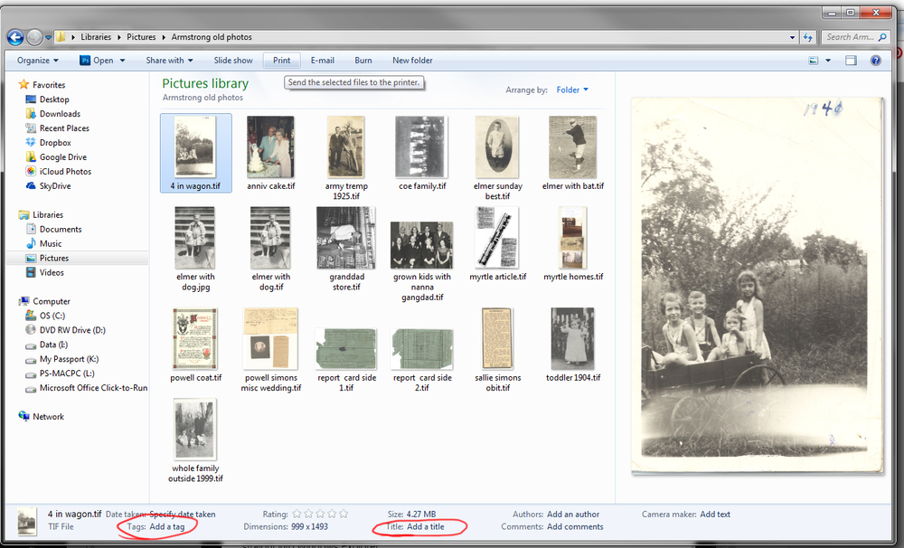 You can easily add caption information directly into Windows Explorer.