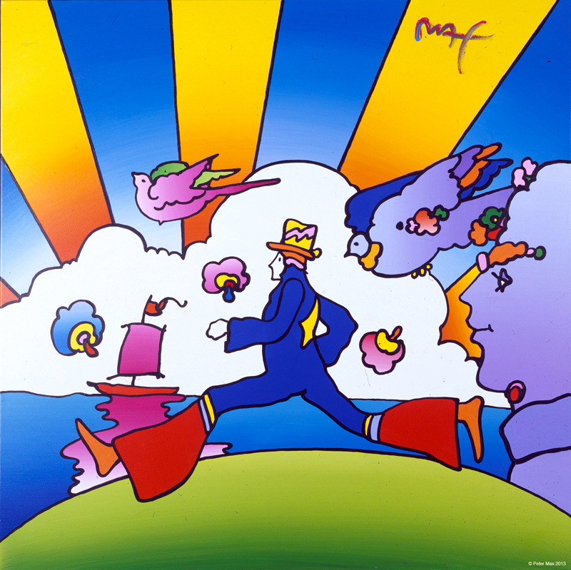 Cosmic Runner by Peter Max, my favorite artist at the time. © Peter Max 2013
